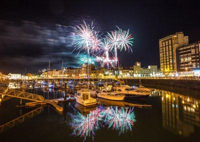 Fuegos artificiales de Gijón
